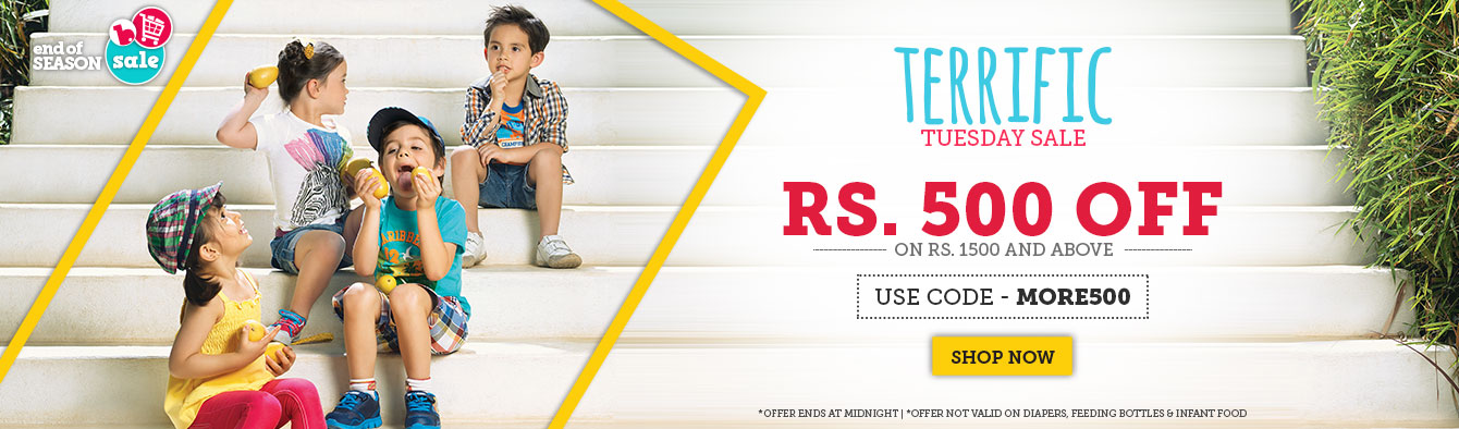 Get Rs.500 Off on purchase of Rs.1500 and above @ Babyoye – Baby Care & Toys